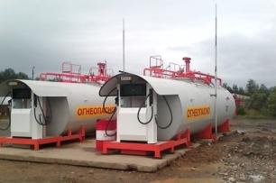 Резервуар с телескопическим основанием для мобильных котельных установок